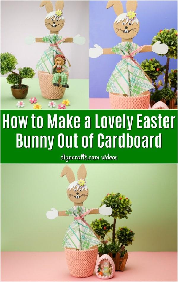 Repurposed Cardboard Easter Bunny Decoration