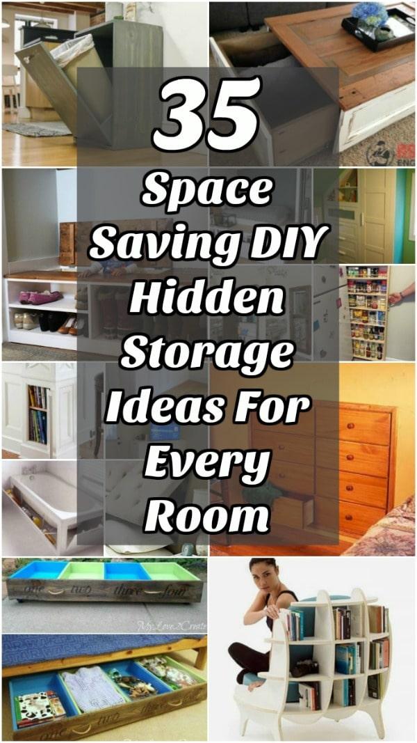 35 Space Saving Diy Hidden Storage Ideas For Every Room