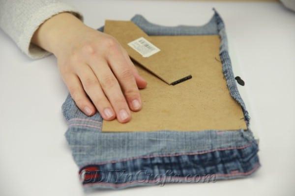 Measuring pocket to ensure it fits inside the frame