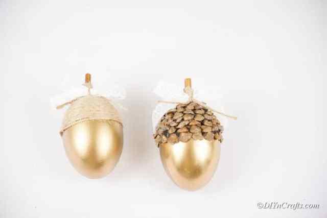 tamamlanmış altın yumurta zanaat