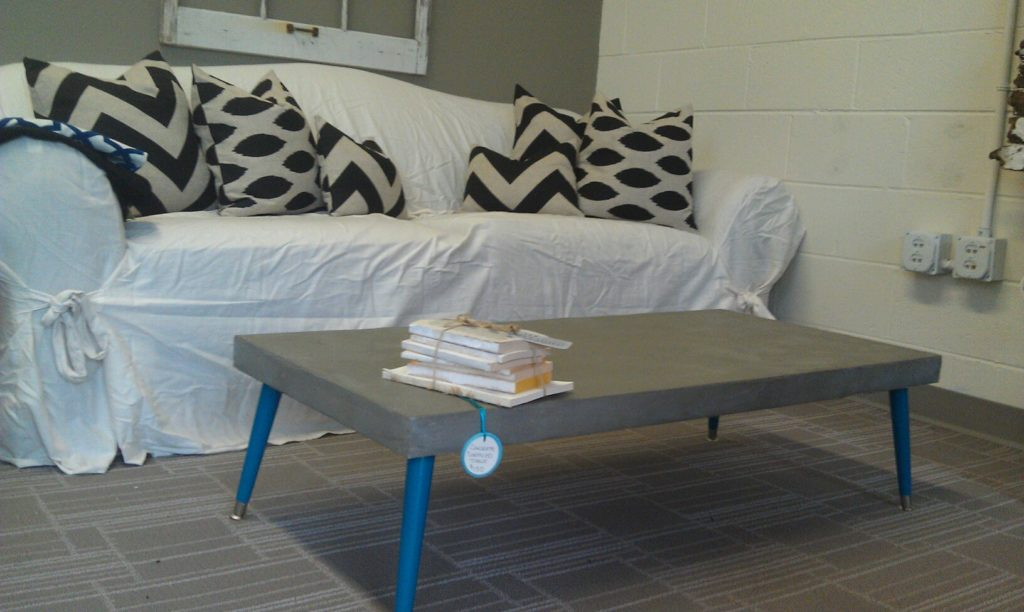 DIY Concrete Coffe Table