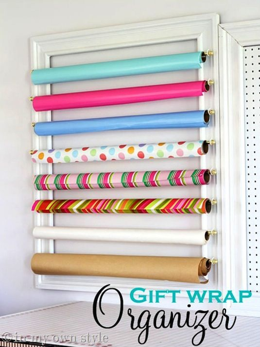33 Ways To Organize Your Gift Wrapping Essentials