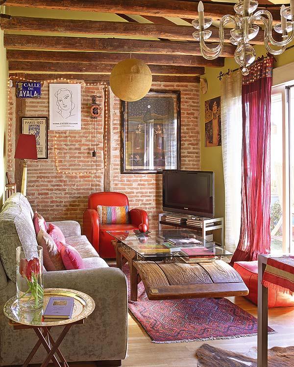 25 Examples of Bohemian Home Décor on Bohemian Living Room Decor Ideas  id=48589