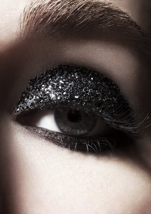 Full black glitter lid