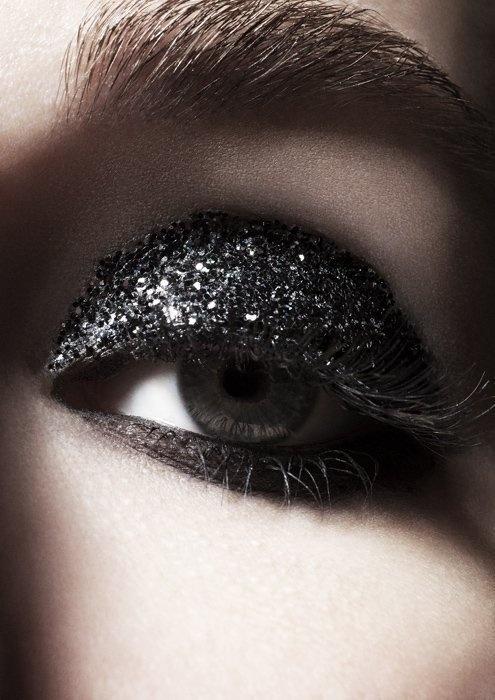 Full black glitter lid