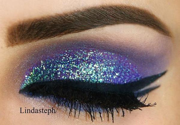 15 Eye Makeup Ideas Involving Glitter