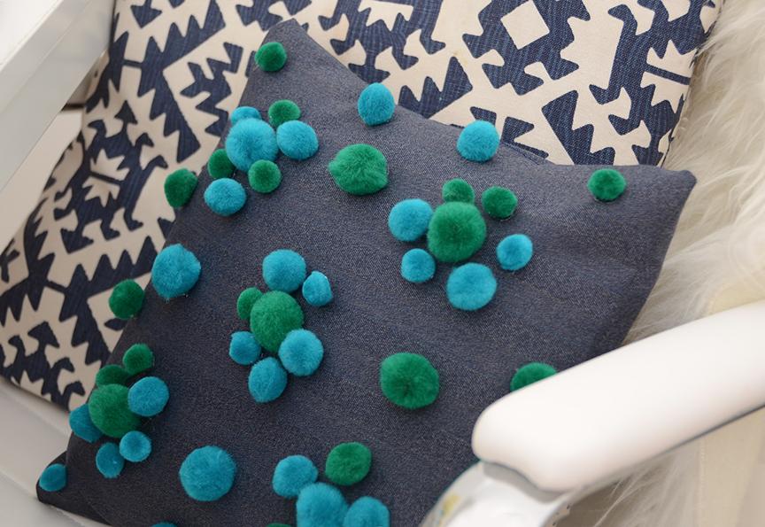 how to make a pillow cover pom pom pillow