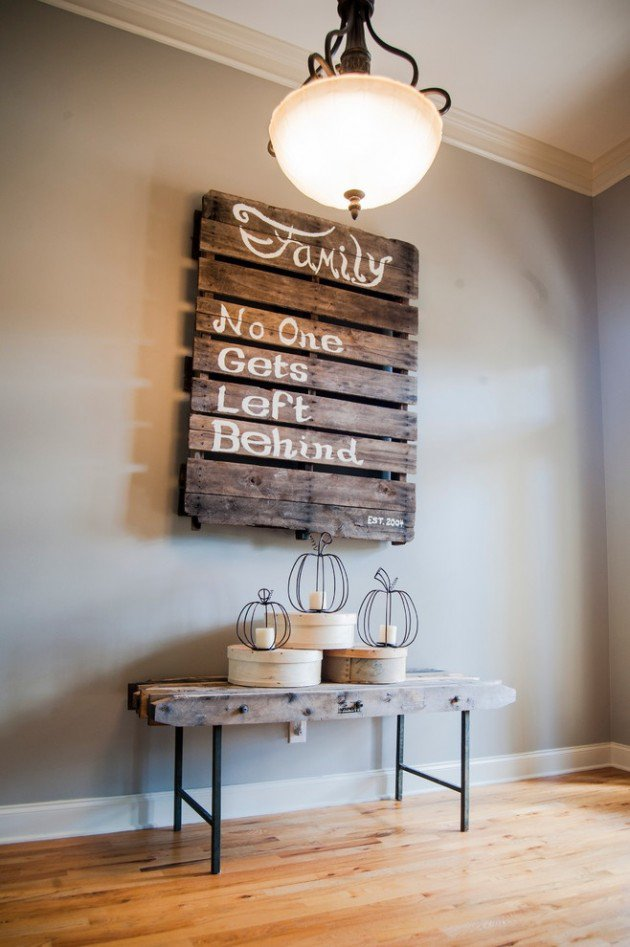 These 22 Pallet Wall Art Ideas Will Have You Busy By The ... on Pallet Design Ideas  id=91372
