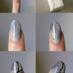 Short Coffin Acrylic Nails Marble Nail And Manicure Trends
