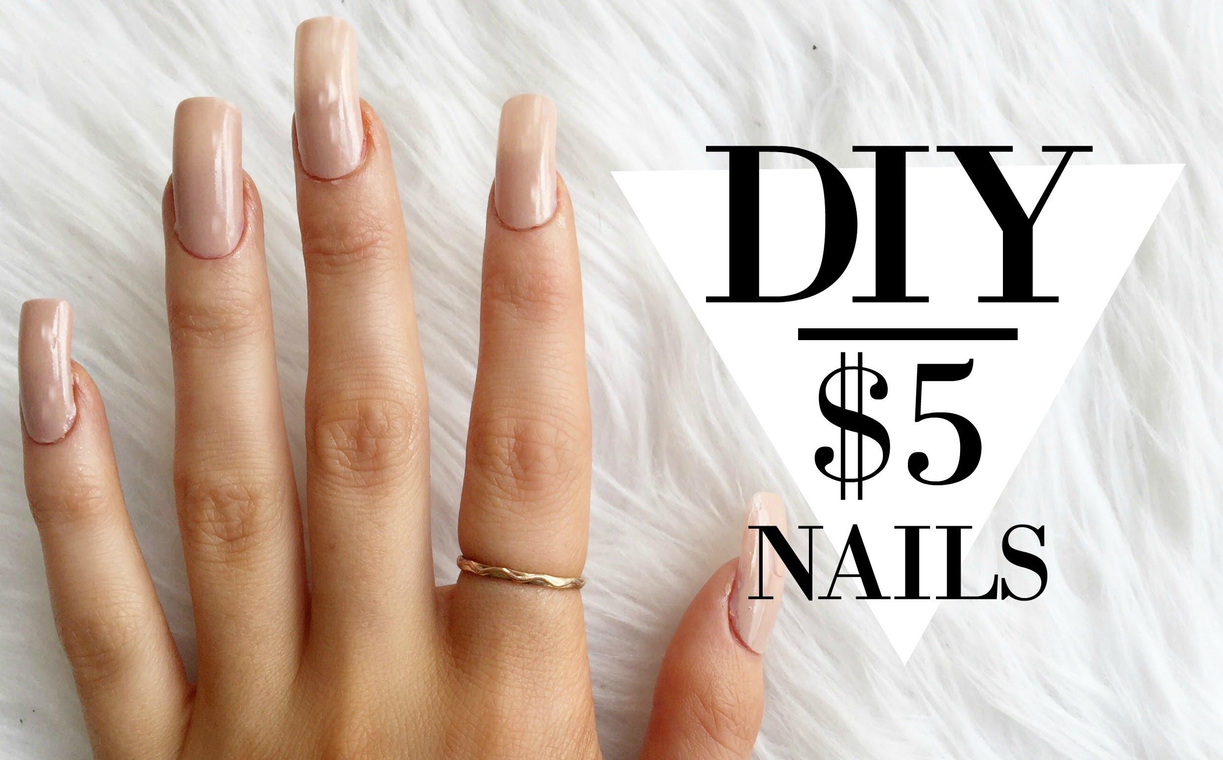 Mock Acrylic Nails On A Budget