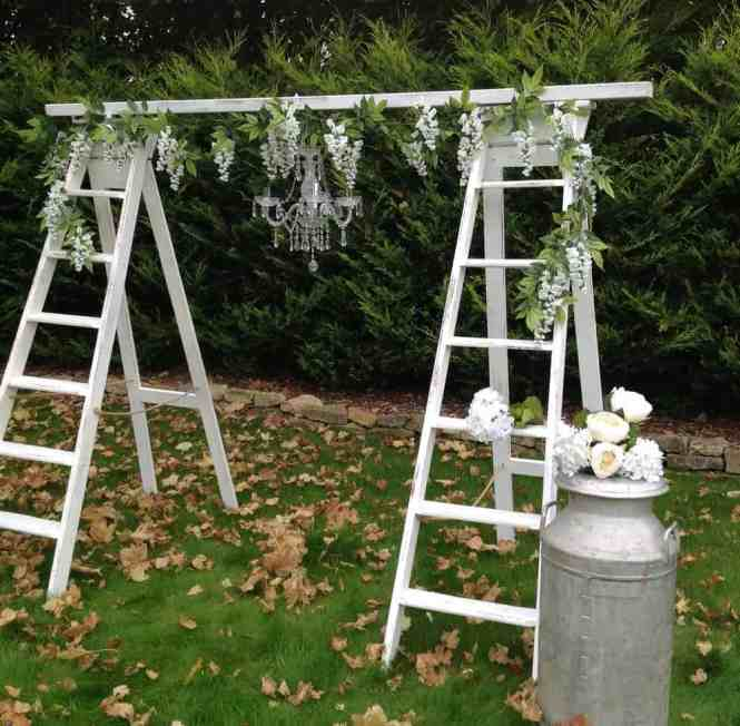 Ladders Chandelier Diy Ladder And Chandlier Wedding Arch