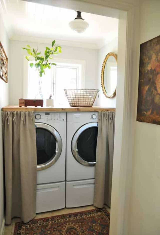 to transform your small laundry room