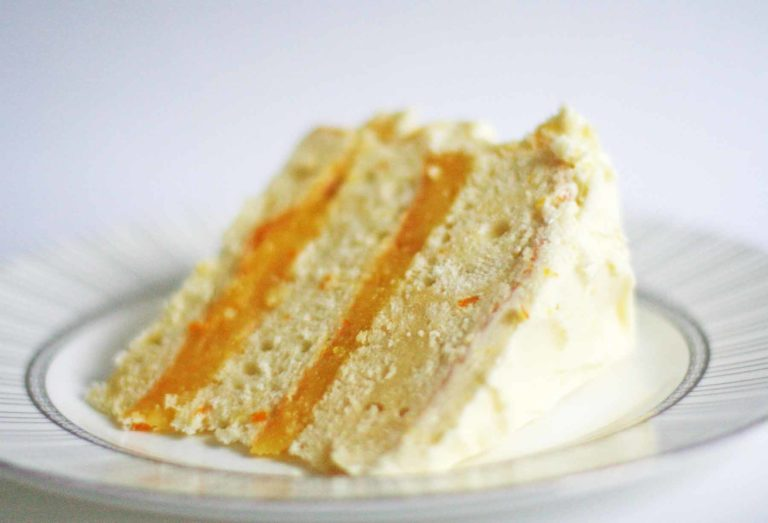 Simple Triple Layer White Cake With Orange Curd Filling : How to Cook Perfect Triple Layer White Cake With Orange Curd Filling