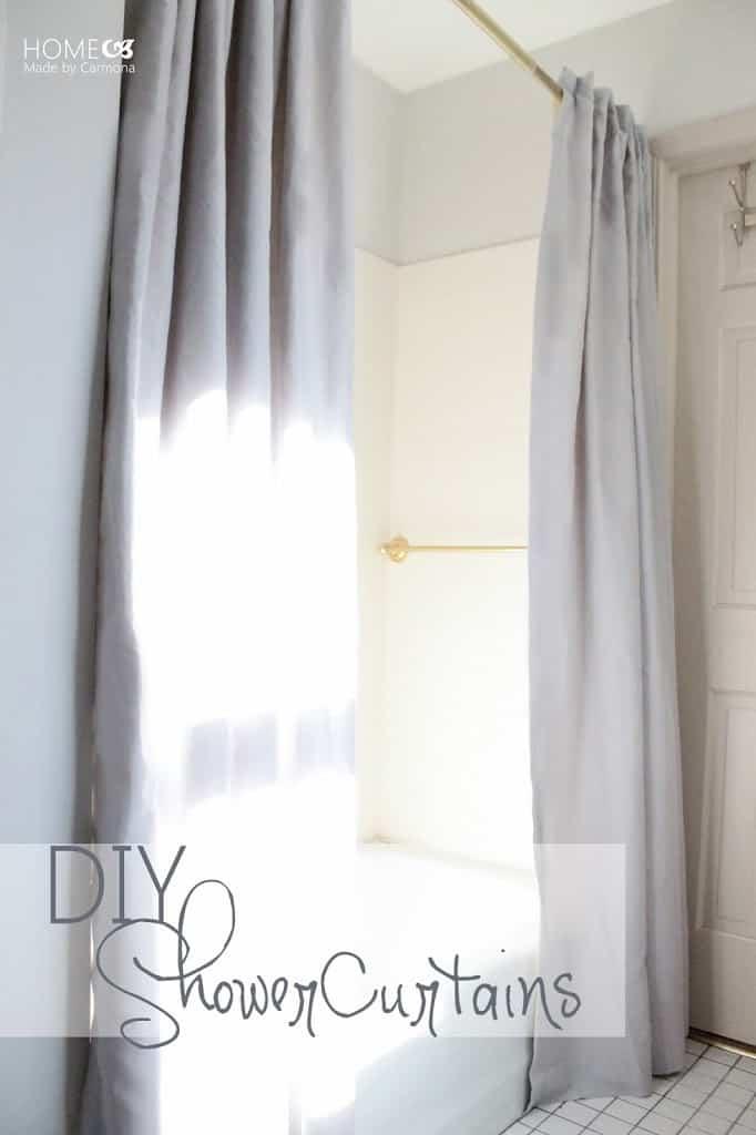 cheap and easy diy shower curtain ideas