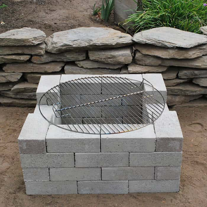 How to Make Cinder Block Fire Pits on Simple Cinder Block Fireplace id=17220