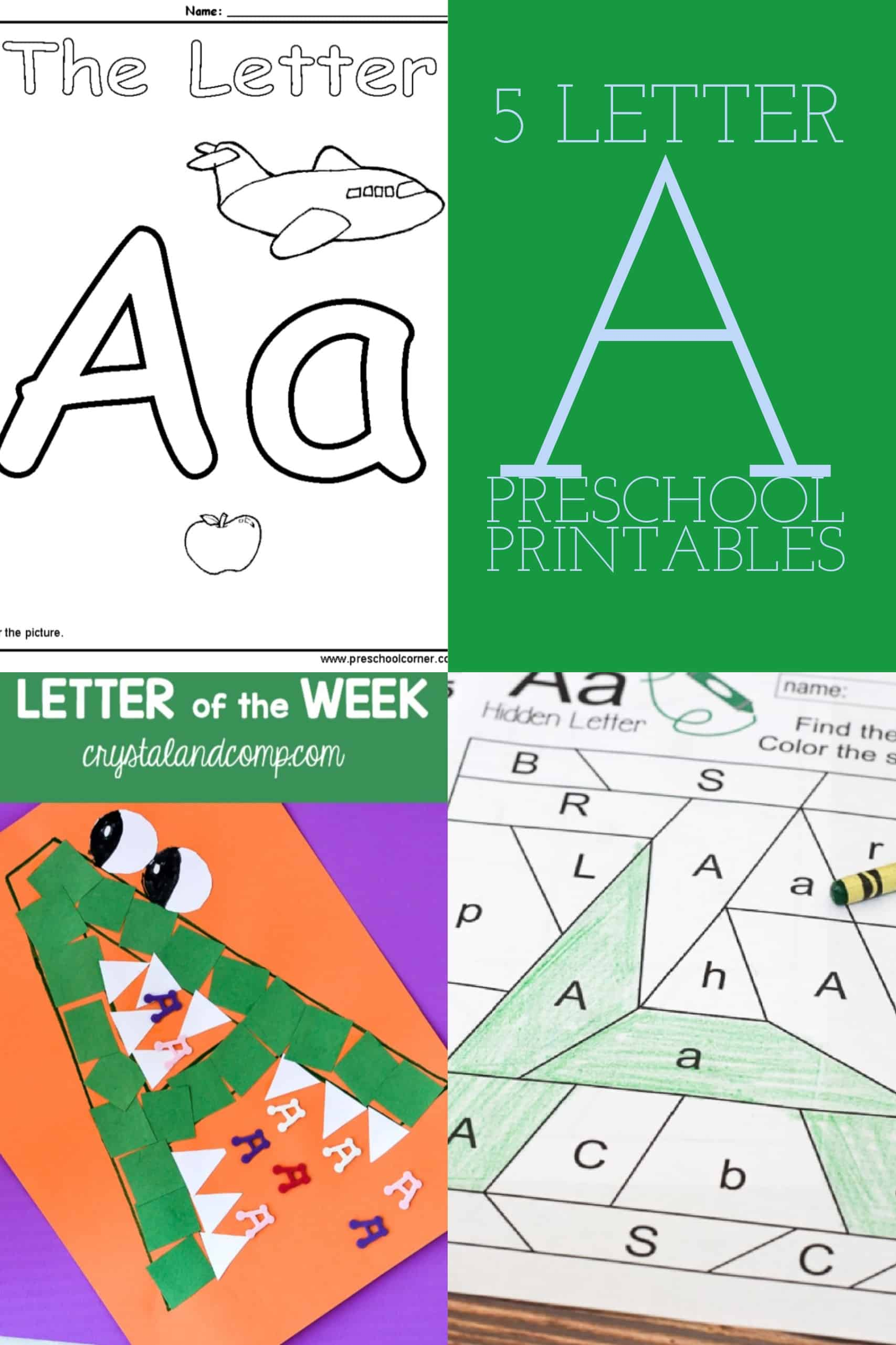 5 Letter A Preschool Printables