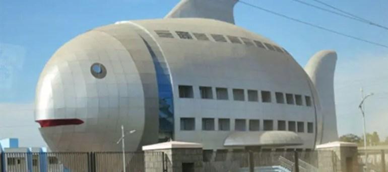 المبنى السمكة