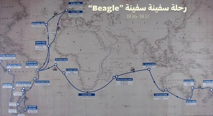 """رحلة سفينة سفينة """"Beagle"""""""