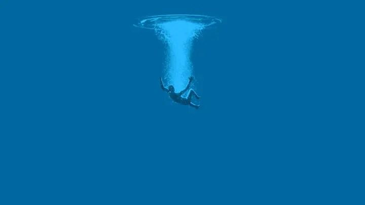 الغرق في المياه المالحة