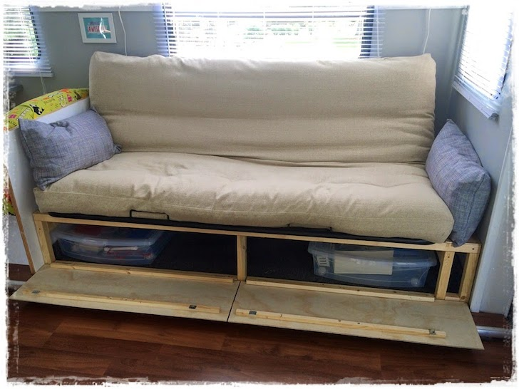 Beau Sofa With Drawers Underneath Futon Beds Storage
