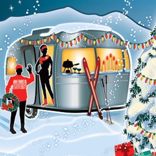 Adorable Travel Trailer Christmas Card