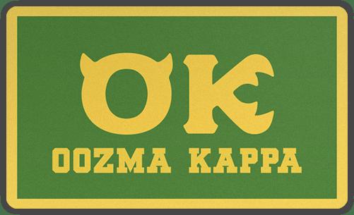 Oozma Kappa OK Fraternity Disney Pixar Monsters University