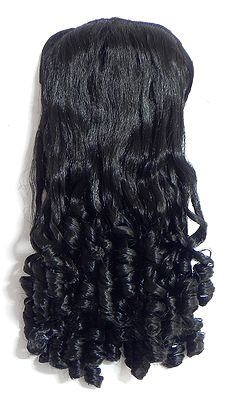 synthetic curly hair extension on b length 16 inches