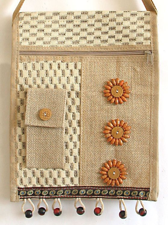 Jute Craft 5 Sparrows Nest With Swing Shape