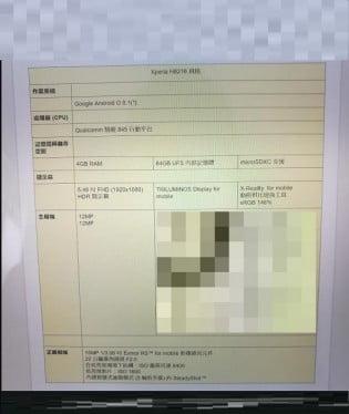 Sony Xperia XZ1'in Devam Modeli Sızdırıldı