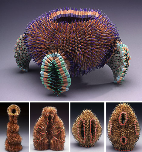 artistic-color-pencil-sculptures