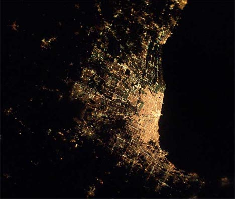 city from space photo