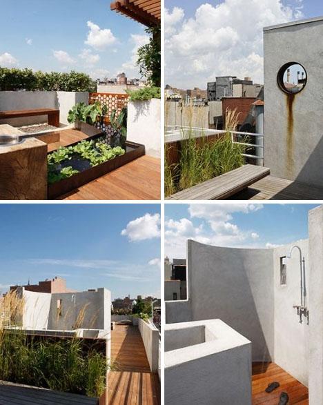 nyc rustic rooftop garden