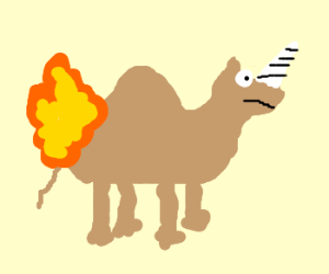Image result for flaming camels