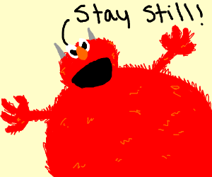 A Man Gets Tickled By Elmo Drawception