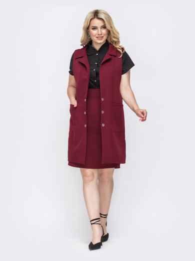 Бордовая юбка-карандаш большого размера 49906 – купить в ...