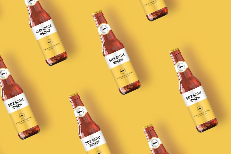Download Beer Bottle Mockup by Anchal on Dribbble