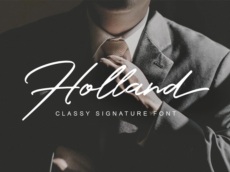Download Holland Font by Graphics Collection on Dribbble