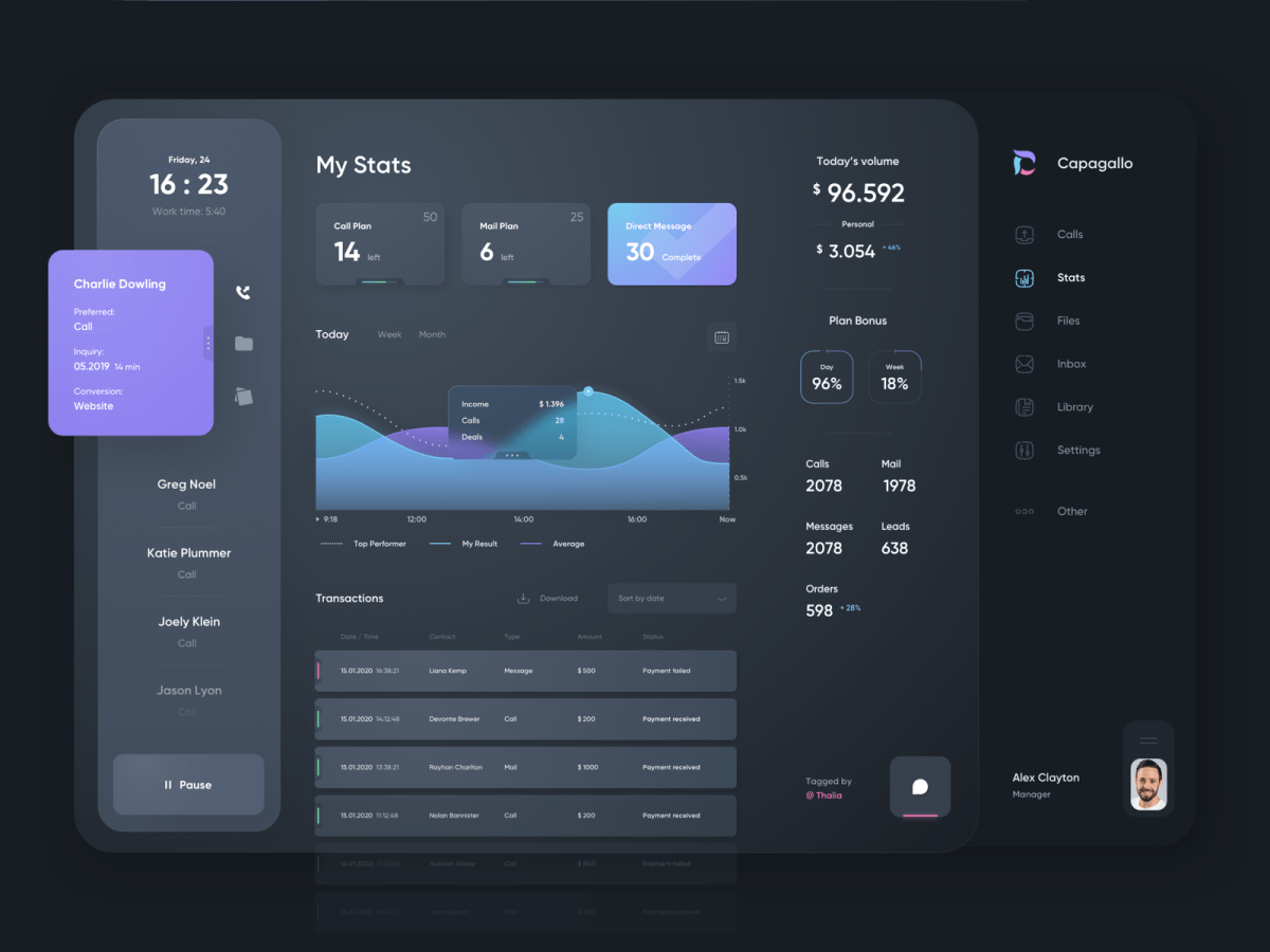 blue and pink gradient ui