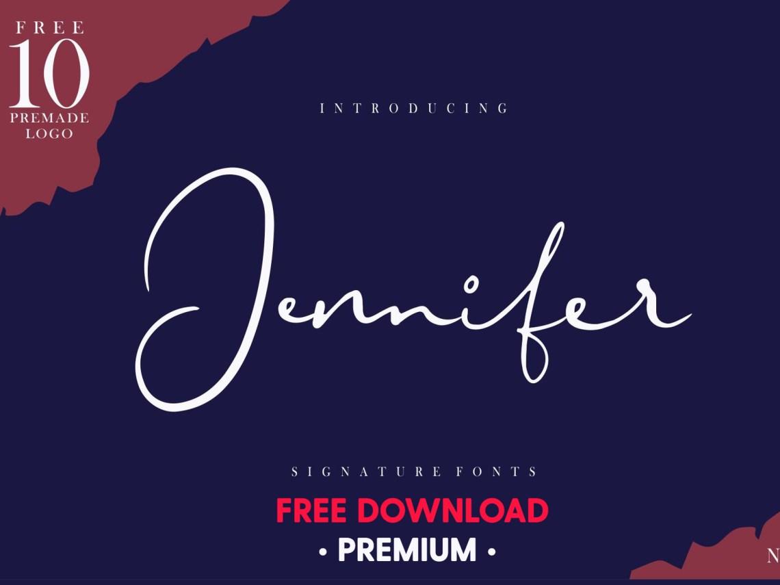 Download FREE Premium Download - Jennifer Signature Fonts [+Logo ...
