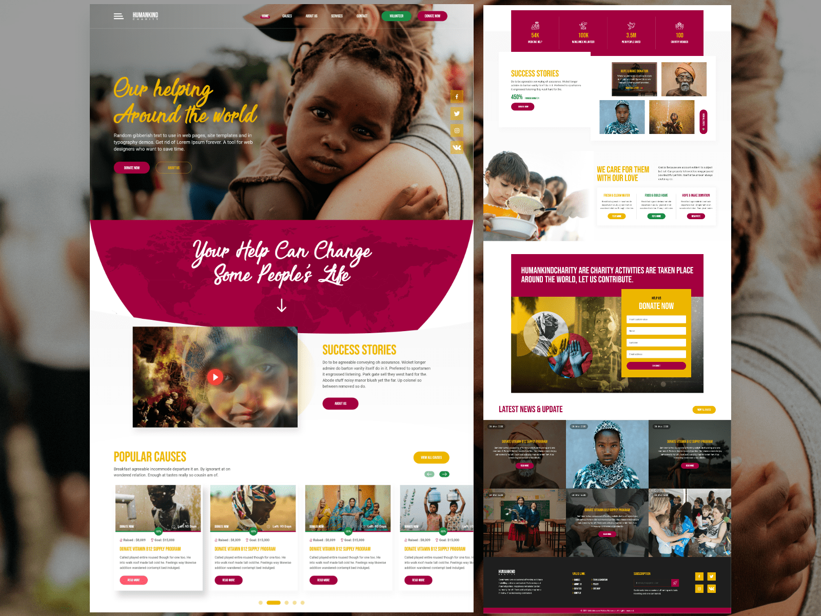 You don't want to get out of bed. Nonprofit Template Designs Themes Templates And Downloadable Graphic Elements On Dribbble