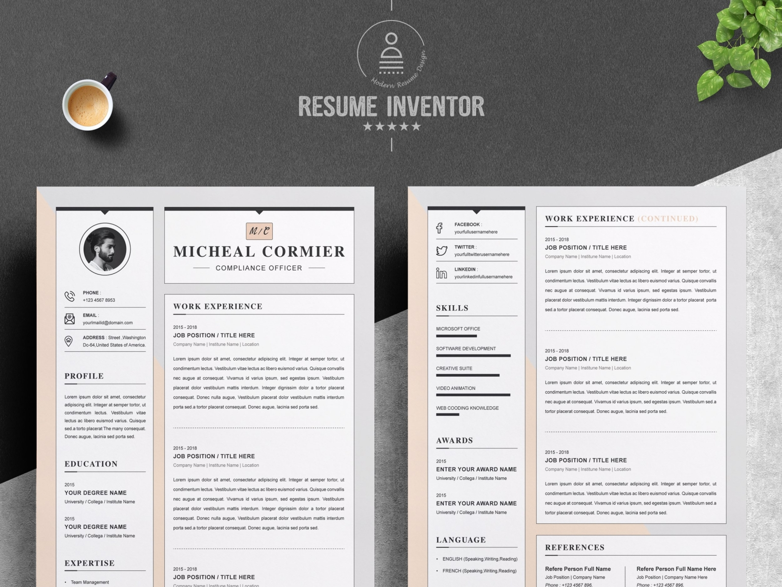 Free apple pages resume template with minimalist design for your next job opportunity. Word Resume Template Apple Pages Cv By Resume Templates On Dribbble