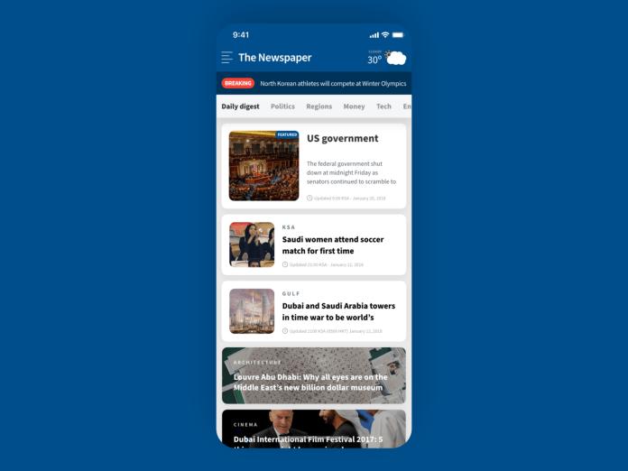 Newspaper App Home Screen Design By Ahmed Kamal Ali On Dribbble