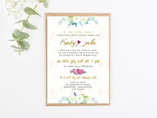 Minimal Wedding Invitations Card By Masud Parvej On Dribbble