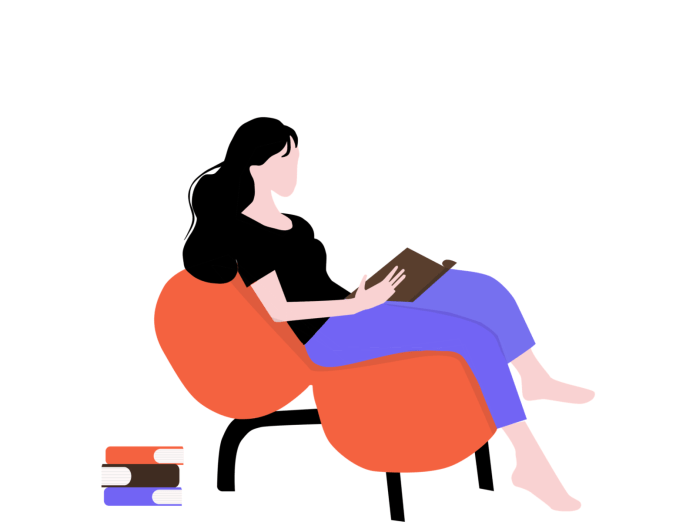 Quick illustration - girl reading book by Mandy Ding on Dribbble
