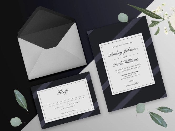 Elegant Dark Wedding Invitation By Nicolas Fernandez On Dribbble