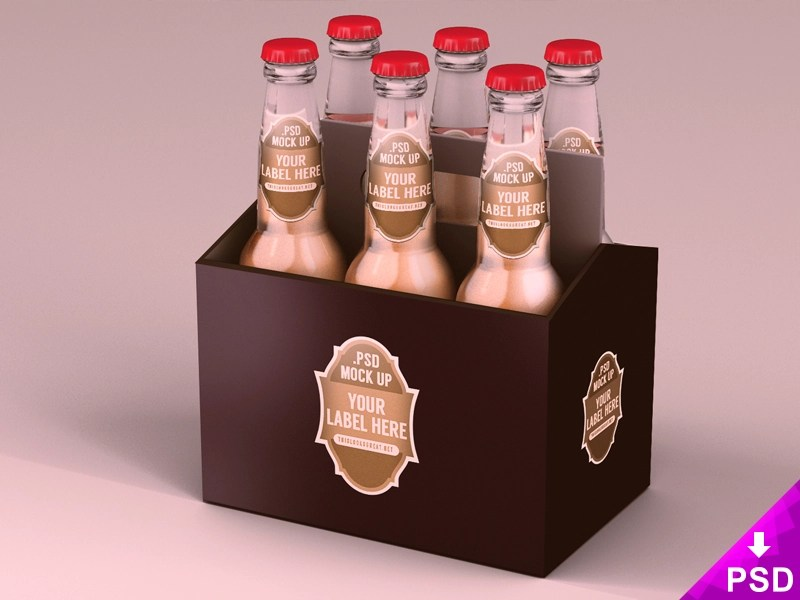 Download Six Pack Beer Packaging Mock Up by Barin Christian ...