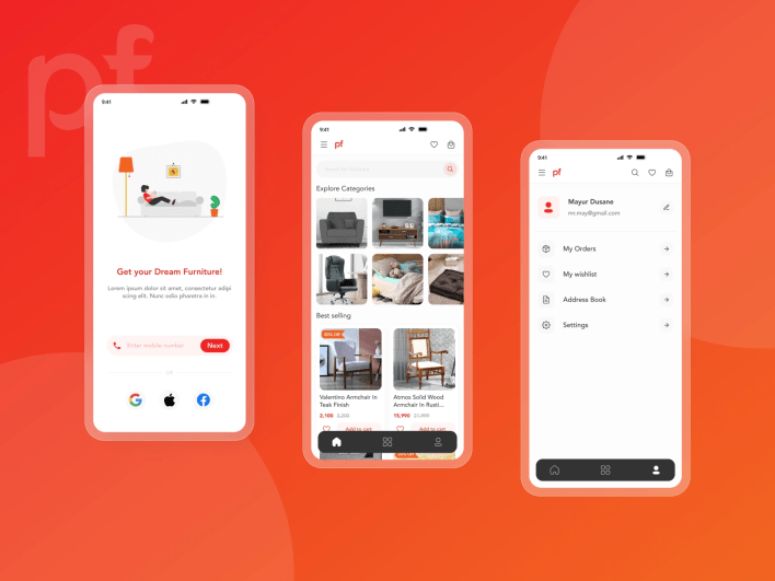 pepperfry app redesign by mayur dusane on dribbble