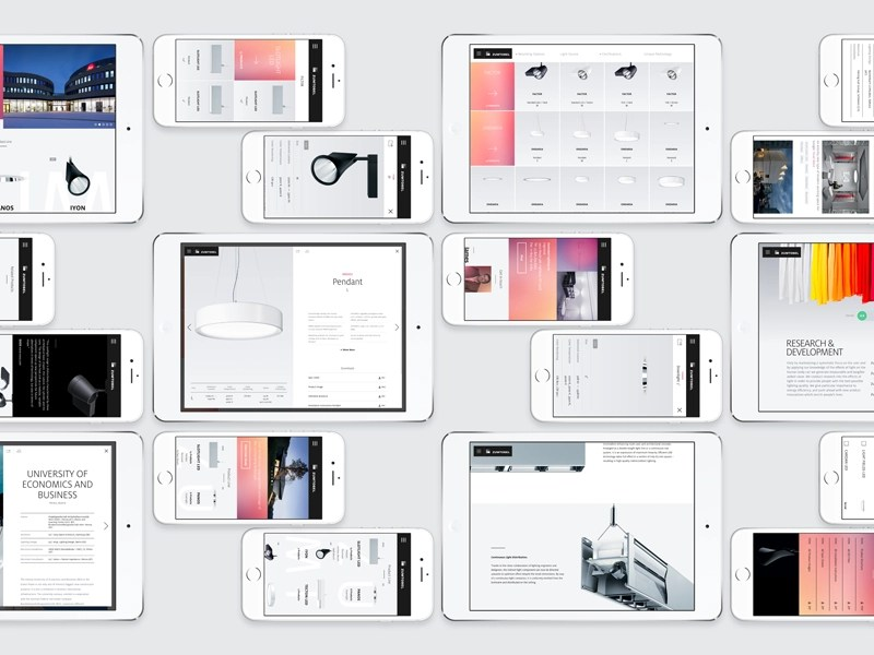 Zumtobel Layouts layout grid product responsive design