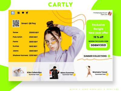Cartly Cart dashboard UI Design