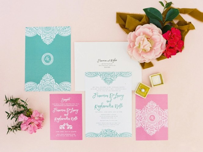 Modern Indian Wedding Invitations By